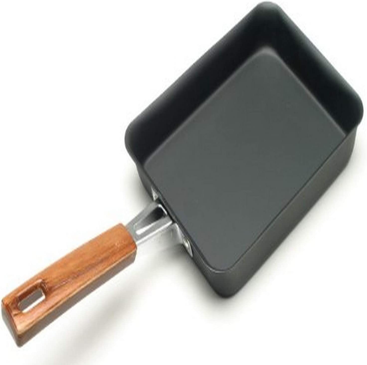 Tamagoyaki Japanese Omelette Pan Cast Iron Wooden Handle