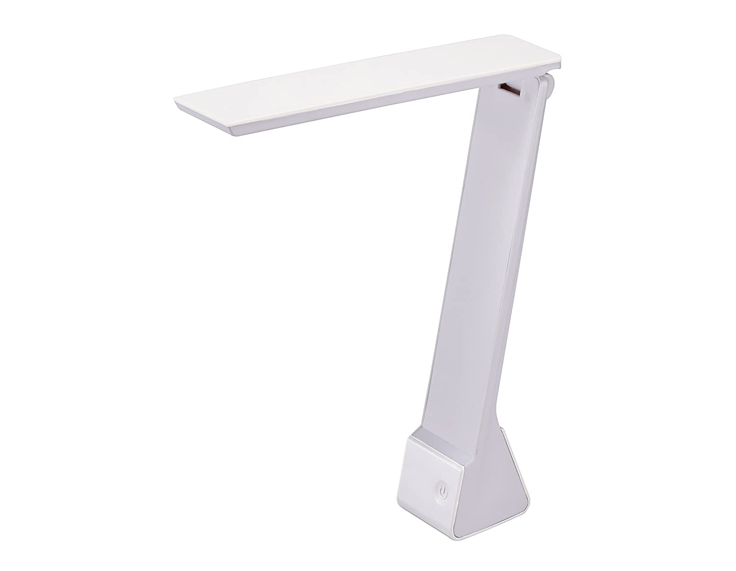 Bostitch Office KT-VLED1810-WHITE Rechargable Battery LED Desk Lamp, 3 Color Temperatures, Flip Open, White