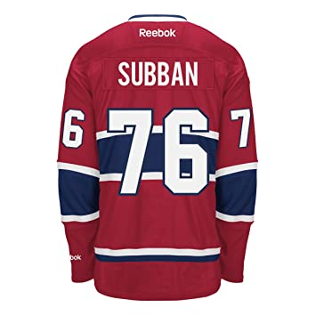a2d7d6c5b70 PK Subban Montreal Canadiens Reebok Premier Replica Home NHL Hockey Jersey  - Size Medium