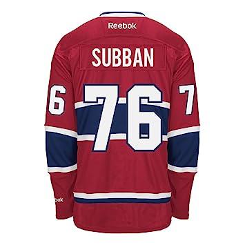 PK Subban Montreal Canadiens Reebok Premier Replica Home NHL Hockey Jersey  - Size Medium 0f3275532