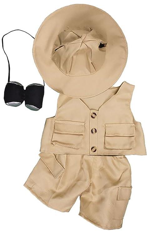 bd20d5264fec9 Amazon.com  Safari 16 (40cm) Teddy Bear Clothes Outfit For Build a Bear by  Teddy Mountain  Toys   Games