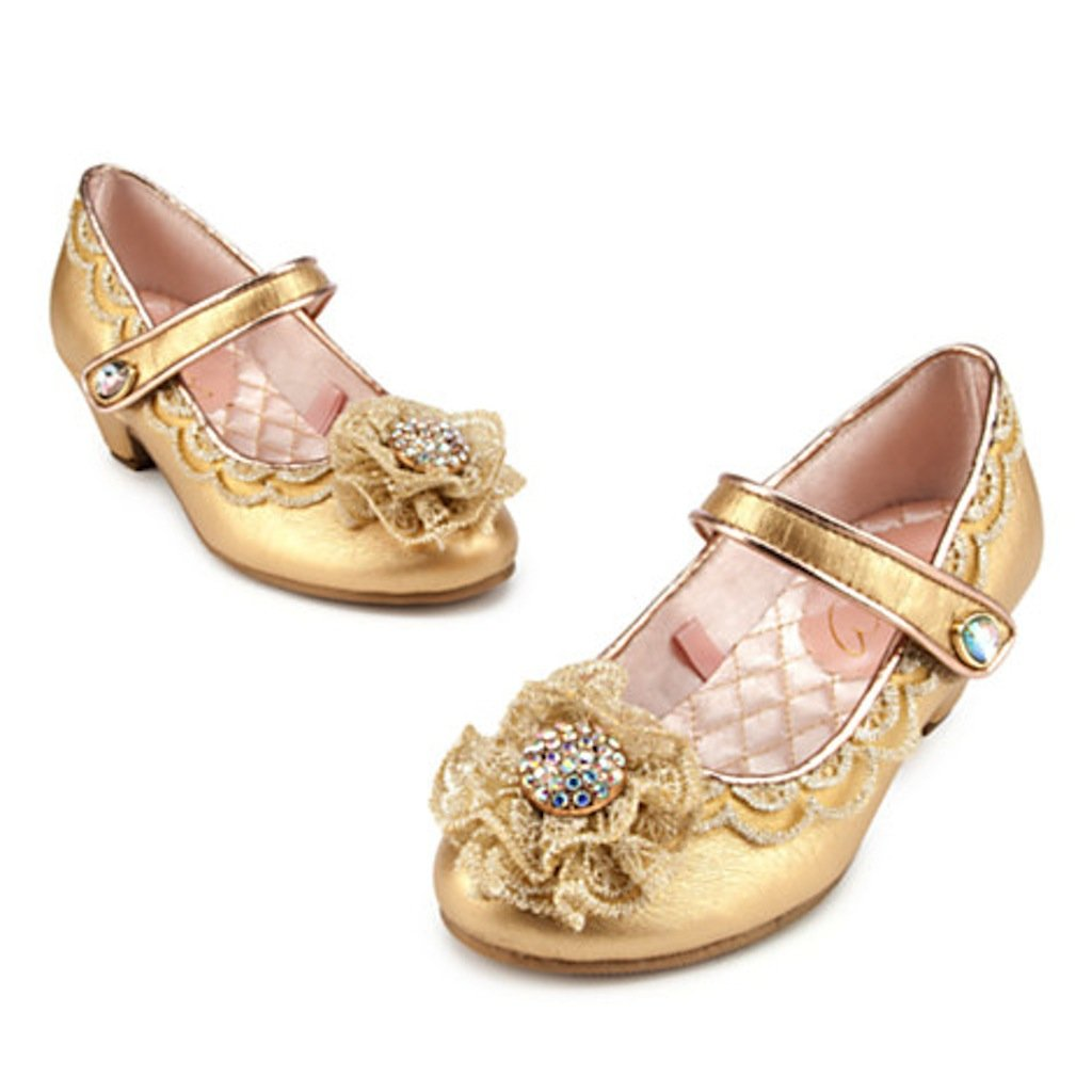 Disney Store Maleficent Aurora Sleeping Beauty Deluxe Shoes Size 9-10 Yellow