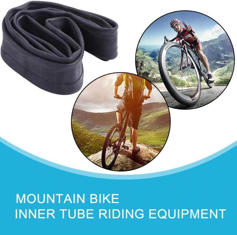 Bicycle Inner Tube Tyres Road MTB Bike Interior Tire Tube Anti Puncture Tube for Bike Bicycle Tire with 6 Round Patches and 6 Tire Levers Huacheng 2 Pack Bike Tube
