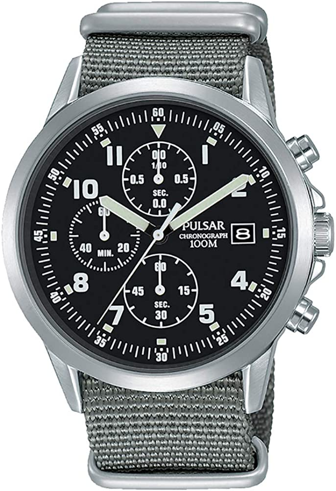 Pulsar PM3129X1 Reloj cronógrafo de estilo militar para hombre – Formally and Enhanced PJN305X1
