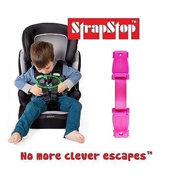 Correa Stop bebé asiento de coche y correa de seguridad (rosa)