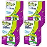Flushable Wet Wipes for Kids, Magic Melon by Kandoo, Potty Training Cleansing Cloths Refills, 250 Count per Pack, Pack of 4
