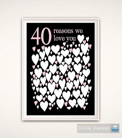 erLesley 40th cumpleaños regalos 40th libro de invitados ...
