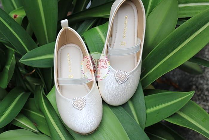 fb178f0ae4bf Amazon.com  Ivory flat shoes for girl Girls flat shoes Flower girls shoes  Ivory girl shoe  Handmade