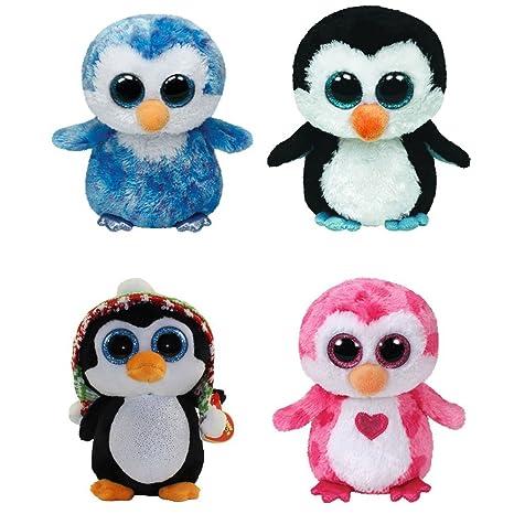 Amazon.com  TY Beanie Boos - SET OF 4 PENGUINS (Ice Cube 9630ef8ce4dd