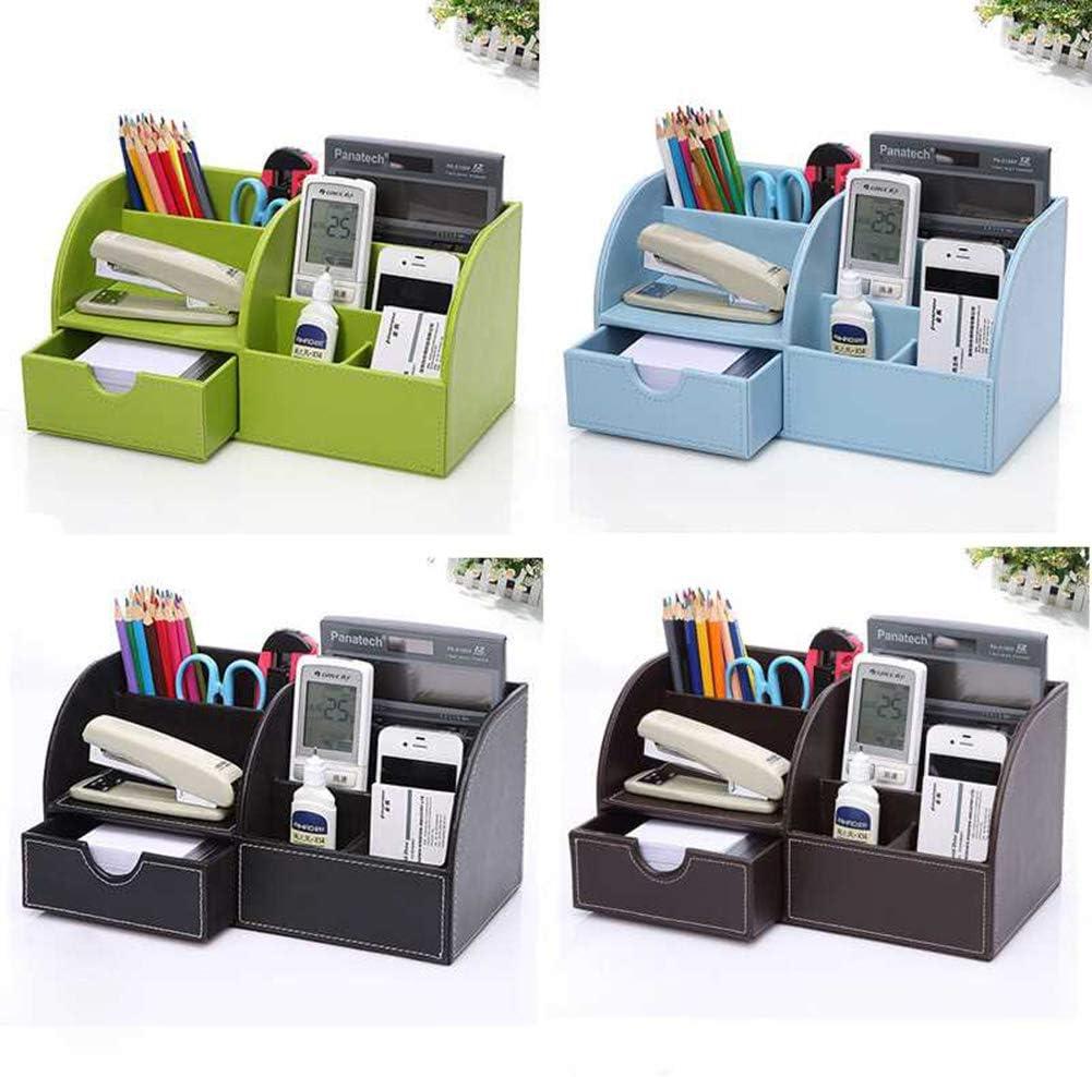 forbici 22,5 x 10 x 12 cm 22.5 * 10 * 12CM Style1 righello per ufficio o ufficio in pelle Portapenne multifunzione da scrivania con penne WDOIT