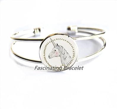 Amazon.com: Moda pulsera, pulsera de unicornio, joyas ...