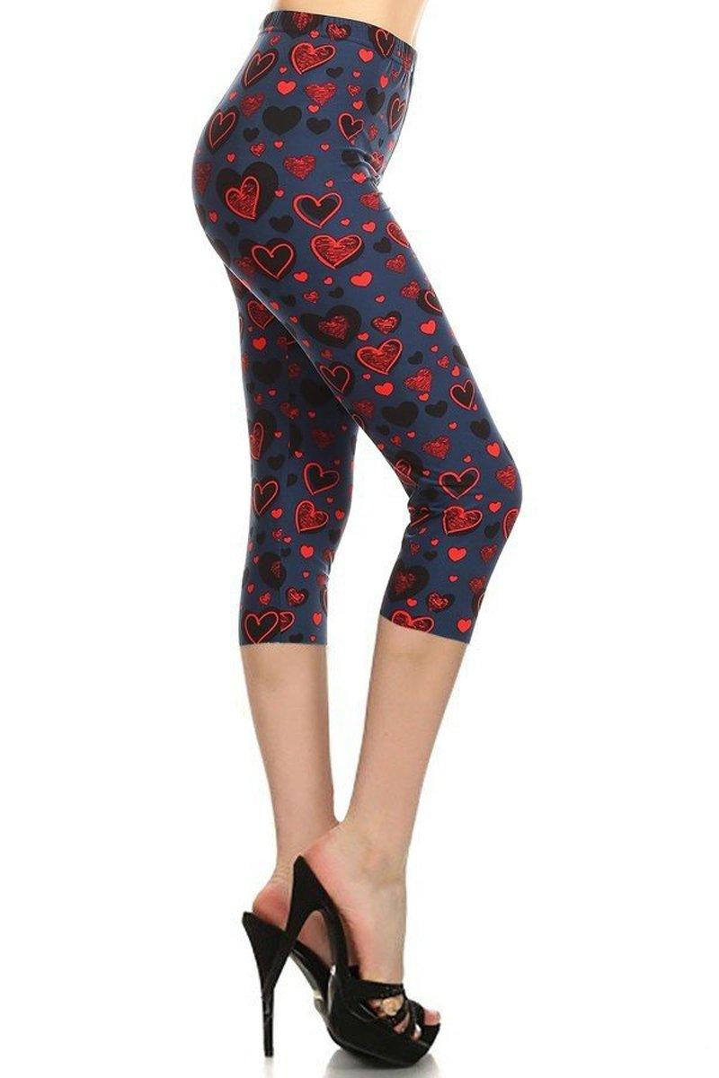 Capri Print Leggings Love Riddles (R953-CA-PLUS)