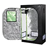 36''x20''x62'' Mylar Hydroponic Grow Tent with Obeservation Window and Floor Tray for Indoor Plant Growing (36''x20''x62'')