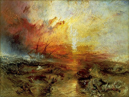 Joseph Mallord William Turner - The Slave Ship, Size 24x32 inch, Poster Art Print Wall décor