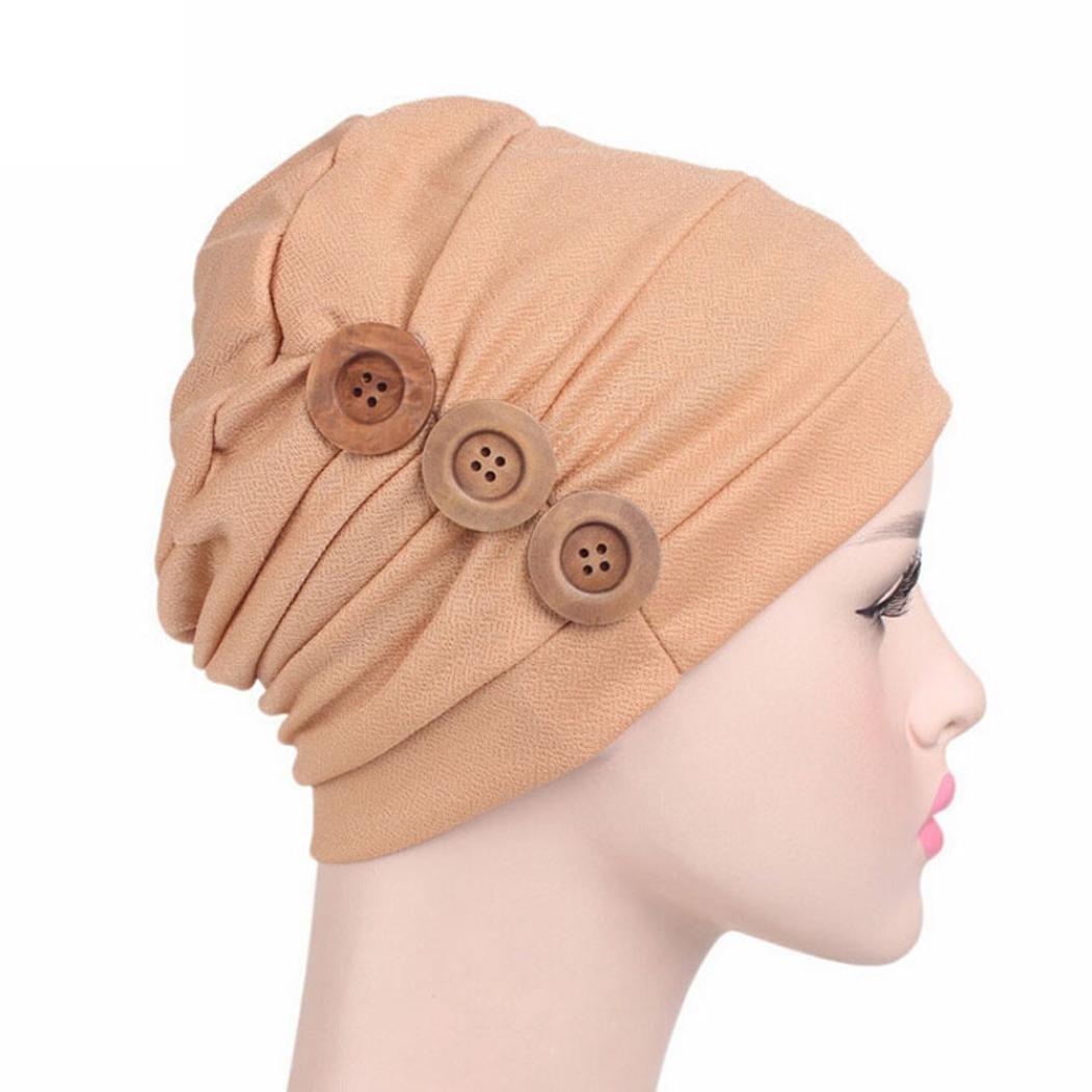 Beige Jaminy 2017 FASHION Women Cancer Chemo Hat Beanie Scarf Turban Head Wrap Cap Scarf Chemo Hat Turban Head Scarves Pre-Tied Headwear Bandana Tichel for Cancer