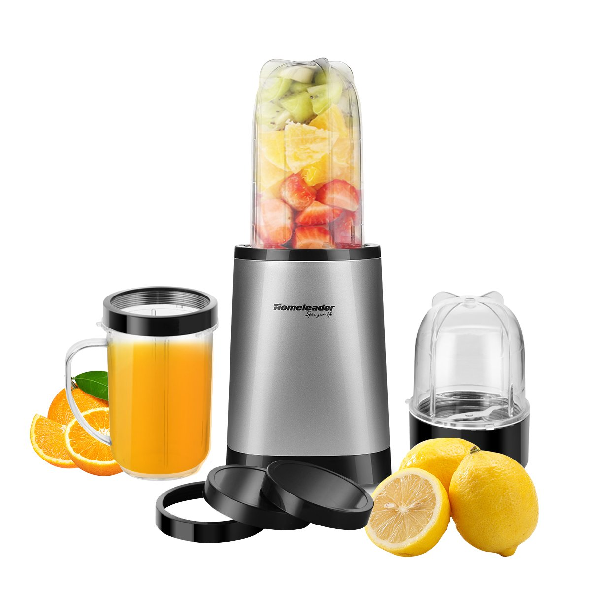 Homeleader 9-Piece Personal Blender, 26000 RPM High Speed Blender for Shakes and Smoothies,Mini Blender/Mixer