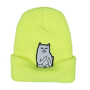 bc80cd4e2f3 Rip N Dip Lord Nermal Rib Beanie One Size Safety Yellow  Amazon.co.uk   Clothing