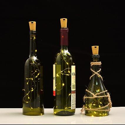 Amazon Wine Bottle Lights With Corkled Cork Lights For Bottle
