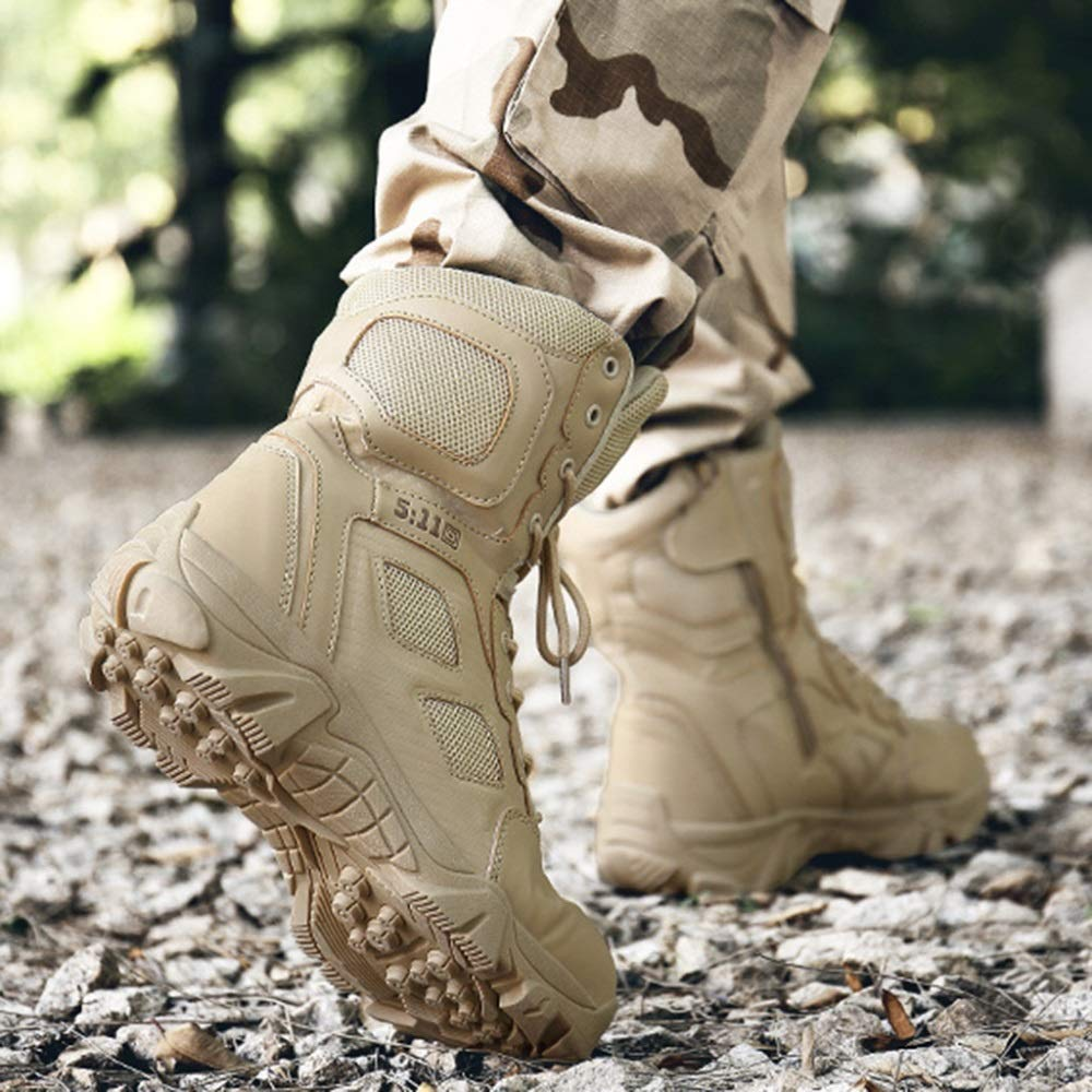AALHM AALHM AALHM Stiefel Mens High Top Schuh Leder Martin Schuhe Outdoor Desert Mountaineering Wandern Patrol Stiefel Military Combat Army Tactics Stiefel Wear resistant 86b408