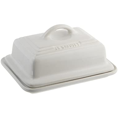 Le Creuset Heritage Stoneware Butter Dish, White