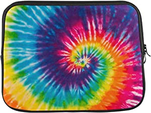 Abstract Swirl Tie Dye Laptop Sleeve Case 14 Inch Briefcase Cover Protective Notebook Laptop Bag