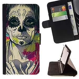 For Samsung Galaxy Core Prime / SM-G360 Case , Juggalo Muerte Profundo Significado Rosa Dibujo- la tarjeta de Crédito Slots PU Funda de cuero Monedero caso cubierta de piel