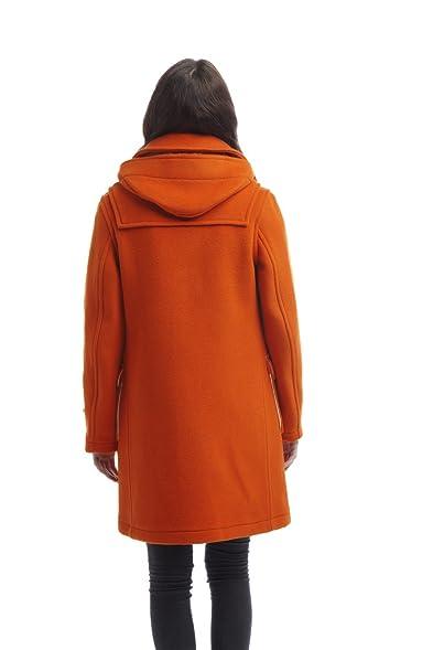 Womens London Duffle Coat -- Orange: Amazon.co.uk: Clothing