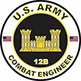 US Army MOS 12B Combat Engineer 3.8 Inch Decal