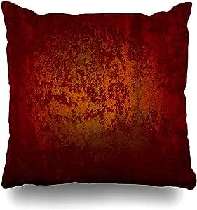 Funda de cojín Amarillo cálido Envejecido Naranja Rojo