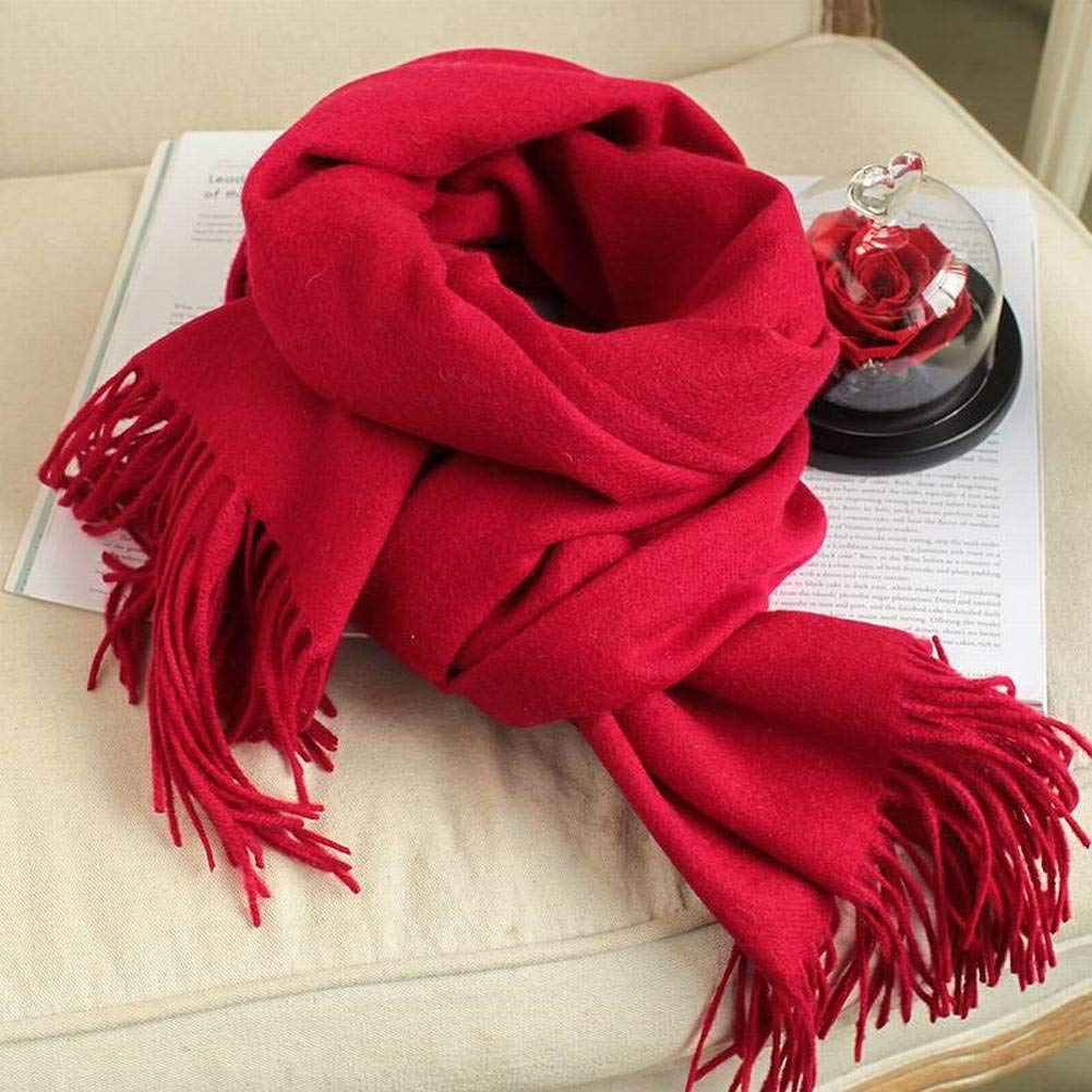 ac1781a98c Good Good Good dress Elegant Ladies Garden Wool Women Warm Pure Color  Lengthened Scarf Autumn and