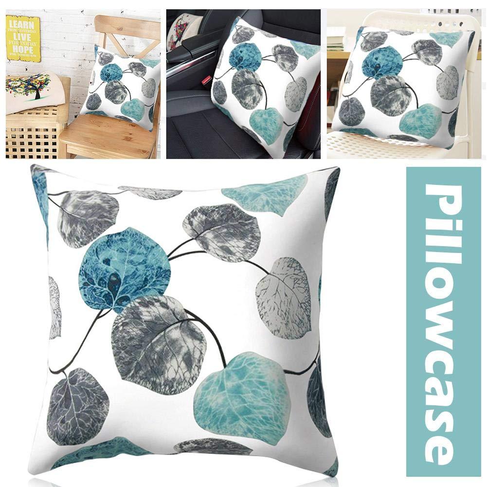Gettare Pillow Cases Moda Nordic Semplice Grigio Blu Foglia Peach Cashmere Piazza Car Divano Letto Decorativo Domestico 45x45 Federa