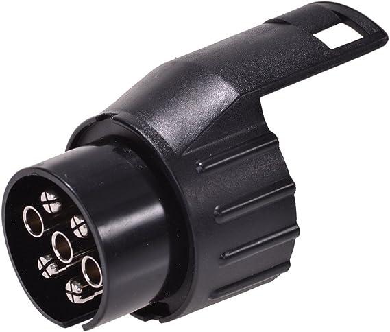 Reminnbor Adattatore di Traino Adattatore Piatto da 7 a 13 Pin Adattatore per rimorchio Cablaggio Connettore a Spina Convertitore Adattatore