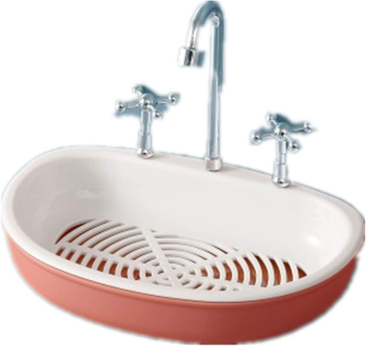 Amazon Com Xbs Soap Box Holder For Shower Bathroom Decoration Tub And Kitchen Sink Drill Free Removable With Draining Tray Very Functional Adorable Faucet Soap Dish Pink Home Kitchen