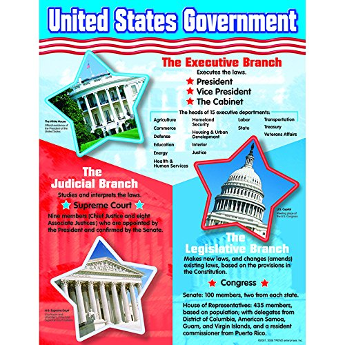 Trend Enterprises United States Government Learning Chart (T-38065)