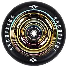 Sacrifice - Roue oil slick 110 mm - Roue de trottinette - Noir - Taille Unique