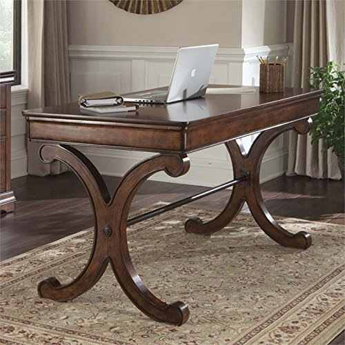 Liberty Furniture 378-HO107 Brookview Home Office Writing Desk, Rustic Cherry Finish -