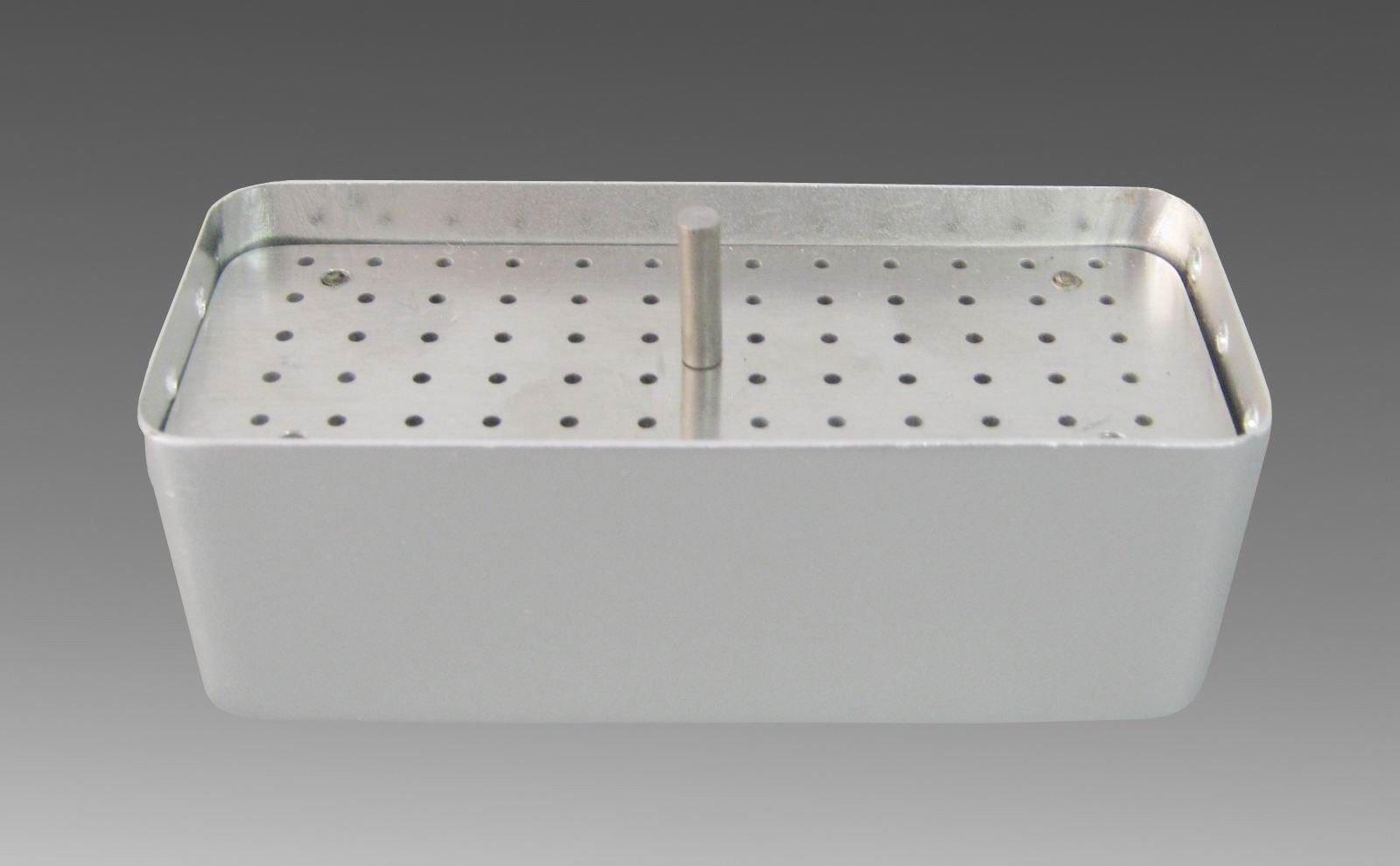 Aphrodite 72 Holes Bur Holder Sterilizer Case Disinfection Box 3 Used Silver Dual core