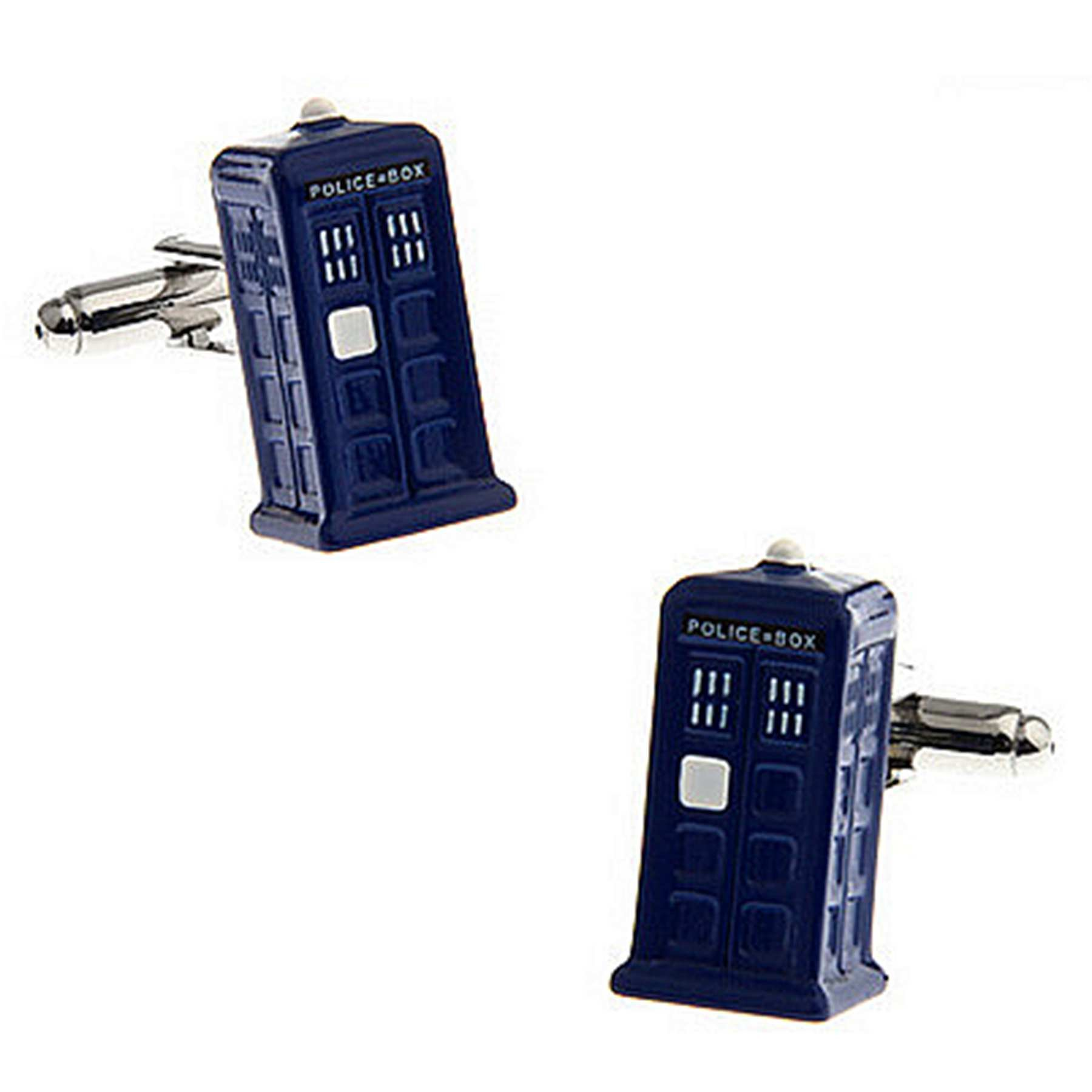 RXBC2011 Men's Police Box Style French Shirts Cufflinks 1 Pair Set