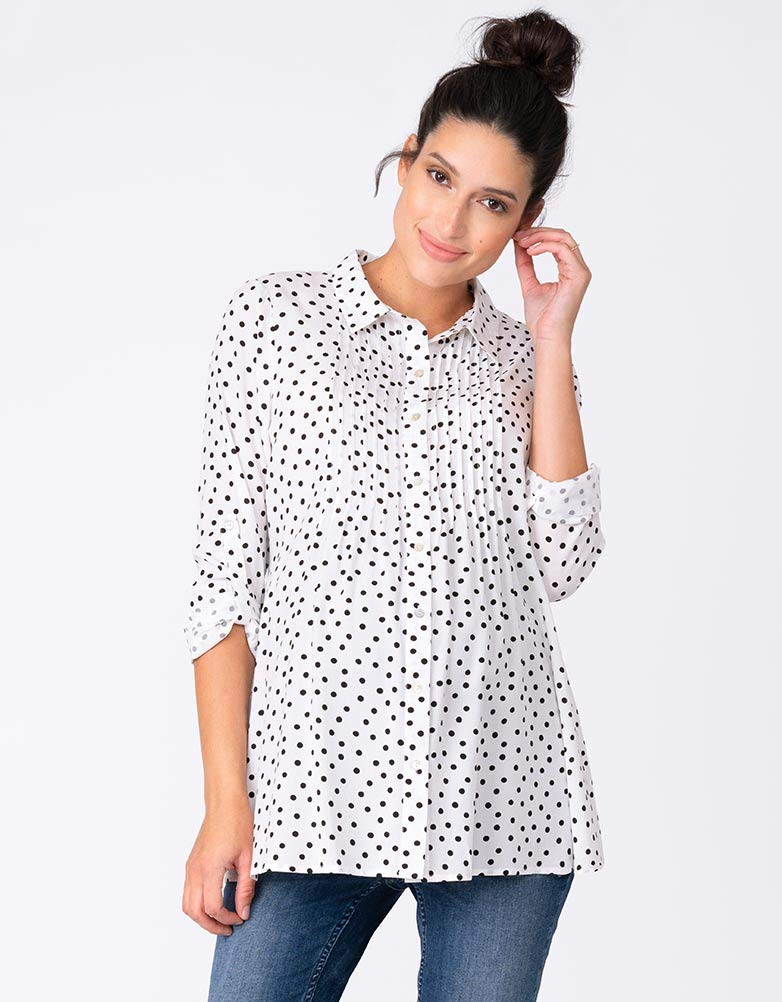 Seraphine Women's Polka Dot Button Down Maternity Blouse by Seraphine