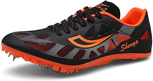 Pista Y Campo Zapatos Unisex, Correr Spikes Zapato Zapatos Ligeros Competencia Spikes Junior Sprint Zapatilla De Deporte De Salto De Longitud para Los Hijos Adultos,Negro,39: Amazon.es: Hogar