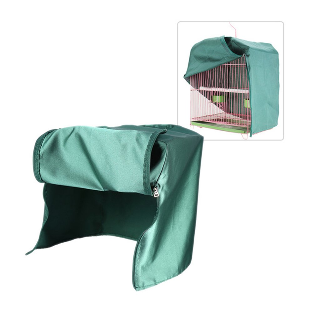 SYOOY Universal Bird Cage Cover Shade Windproof Cloth Green 12.5 x 12.5 x 17.3
