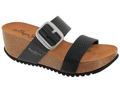 837feea27141 Pepe Jeans Sandales - Nu Pieds Tyron Plain Noir 40  Amazon.fr ...