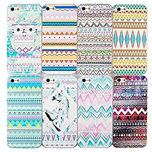 YULIN Chromatic Geometry SeriesBack Case for iPhone4/4S(Assorted Color) , 5#