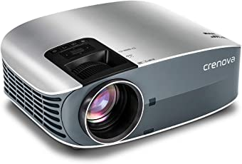 "HD Projector, 2018 Upgraded (+80% Brightness) Crenova 200"" 1080P HD Home Portable Video Projector for PC/MAC/TV/DVD/Movies/Games/Outdoor with USB/Micro SD/AV/HDMI/VGA Input"