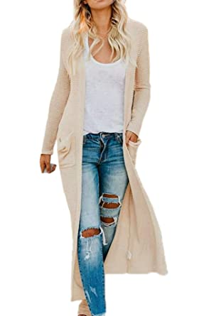 52cce2c4431b Simple-Fashion Casual Manga Larga Chaqueta de Punto Ropa de Abrigo Jerséis  Rebeca Mujer Suéter Cardigan Clásico Moda Sweater Coat Tejer Tops Outerwear  Otoño ...
