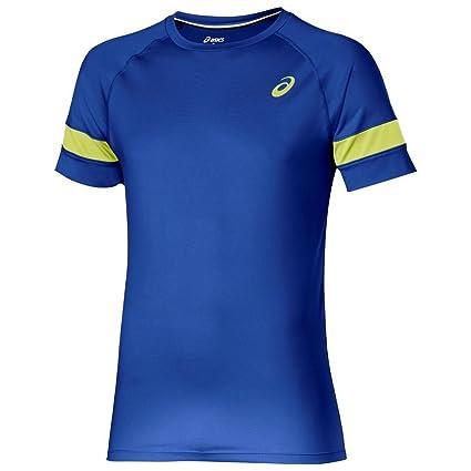 ASICS Mens SS Performance Running Short Sleeve T-Shirt - Blue - XL