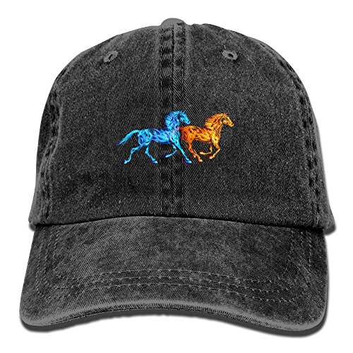 Ice and Fire Horses Baseball Cap Of Hat Adjustable Plain Baseball Cap