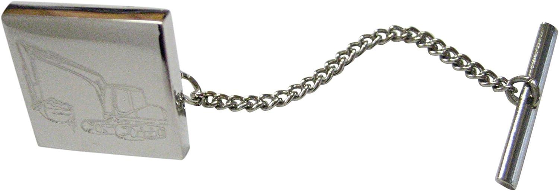Kiola Designs Silver Toned Textured Submarine Tie Tack