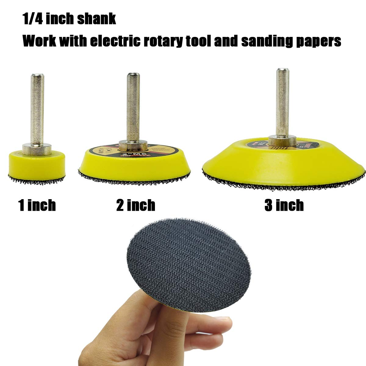 "3/"" x M10 Thread Hook /& Loop Back-up Sanding Pads with 6mm Shank"