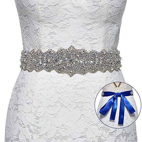 Royal Blue Satin Rhinestone - 5